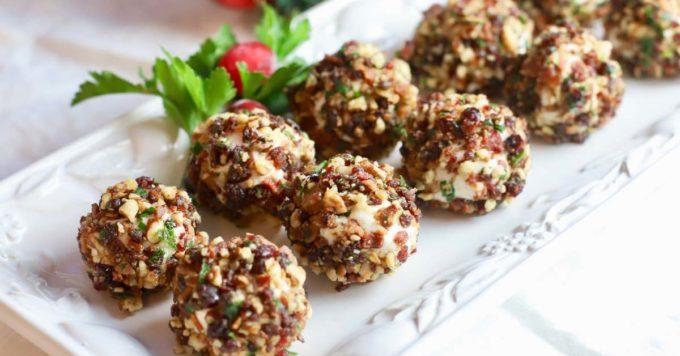 Cranberry Pecan Mini Goat Cheese Balls