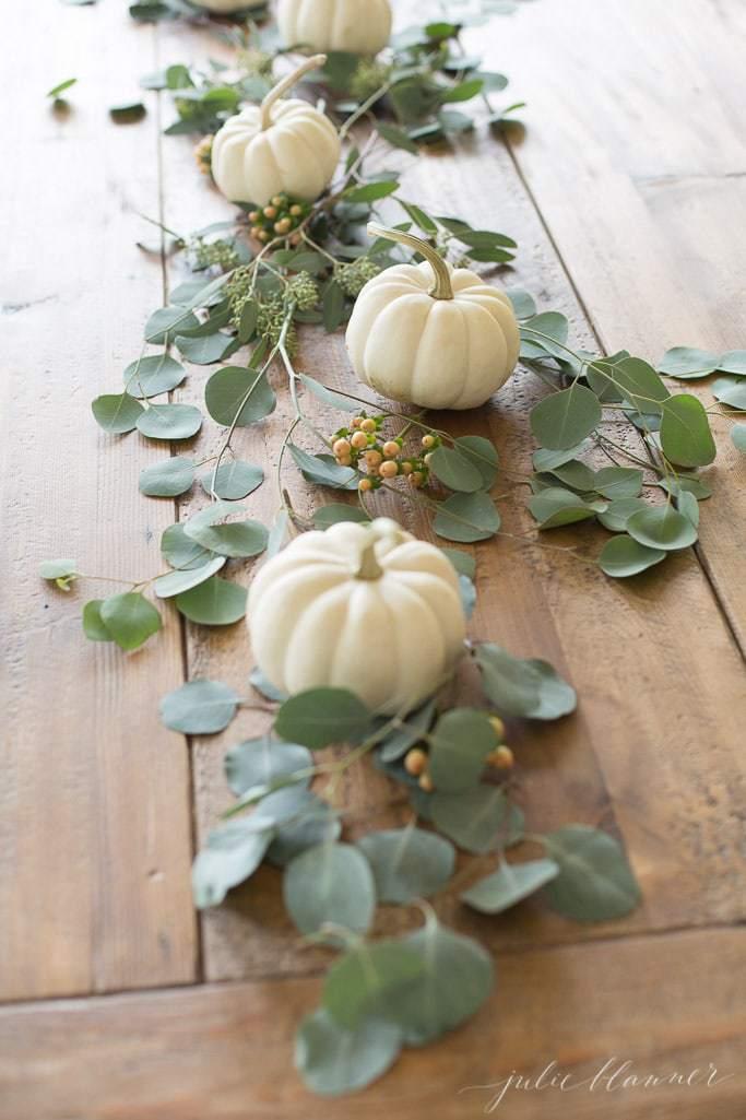 Mini Pumpkin Table Runner