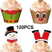 Christmas Cupcake Toppers and Wrappers