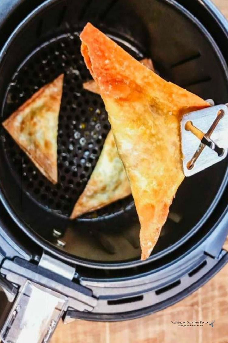 Air Fryer Wontons cooked from WOS