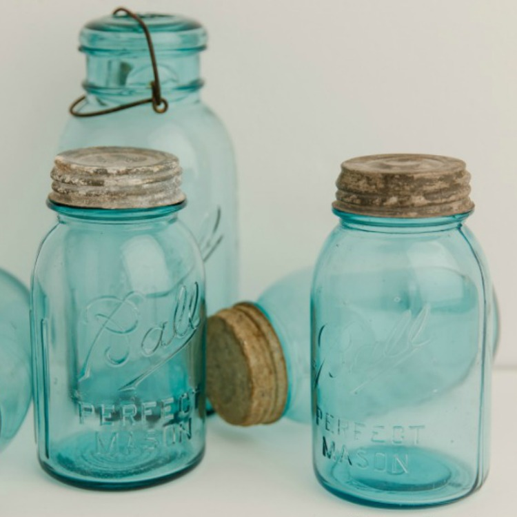 Blue Ball Mason Jars from WOS
