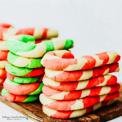 Candy Cane Sugar Cookies Recipe