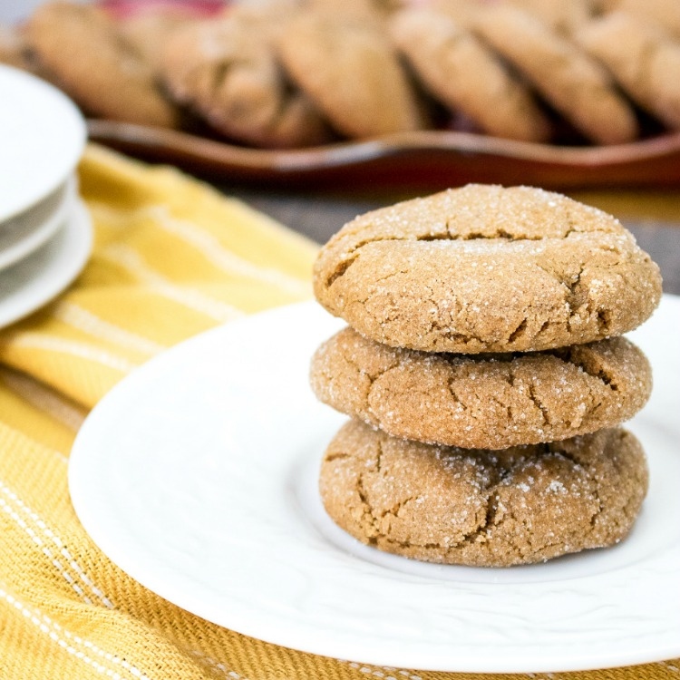 Chewy Gingersnap Cookies FEATURED photo