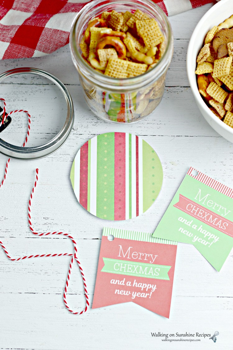 Labels and Tags need for Chex Mix Gift JAr