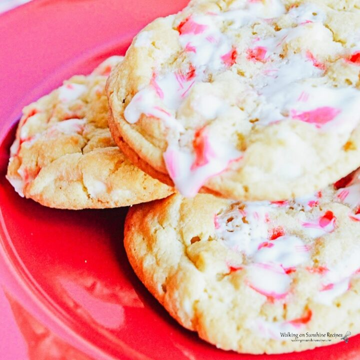 Leftover Candy Cane Sugar Cookies with White Chocolate Chips from WOS