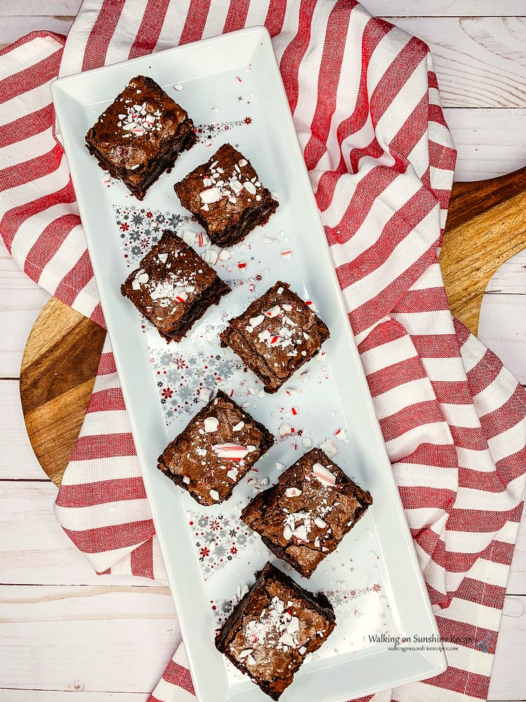 Peppermint Brownies for Christmas in a Mason Jar Printable