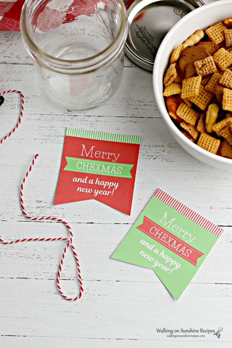 Tags for Chex Mix in a Jar Gift