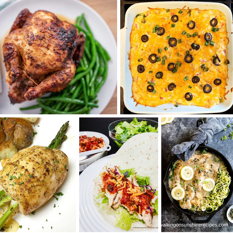 Chicken recipes that are keto-friendly.