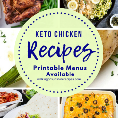 Weekly Meal Plan – Keto Chicken Recipes
