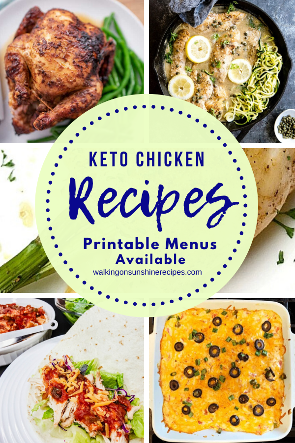 5 Keto Chicken Recipes for dinner this week.