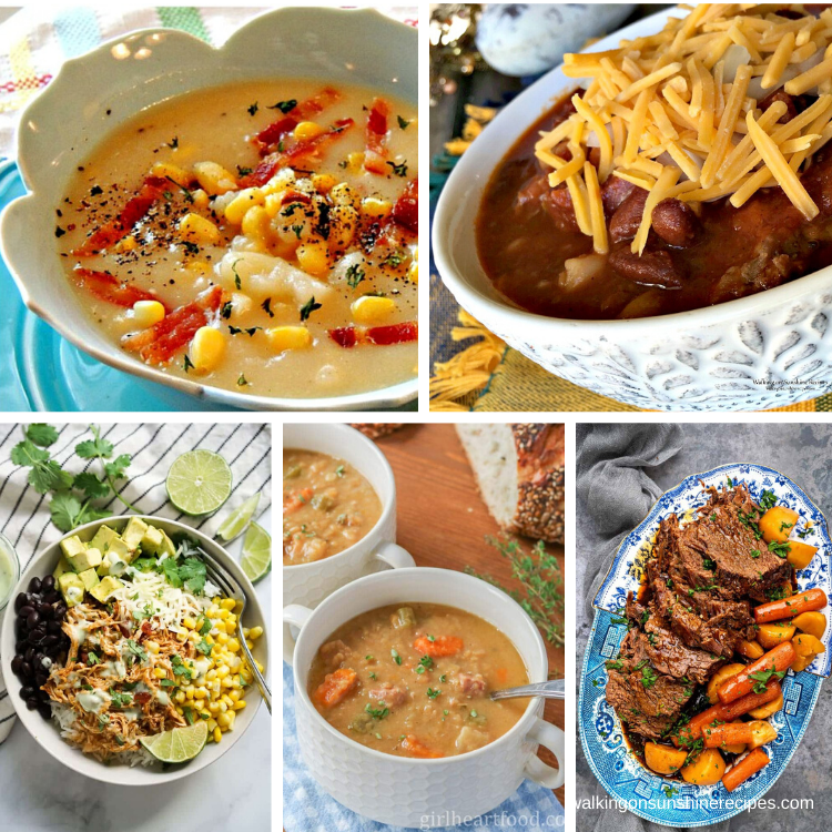 5 different recipes to make in your slow cooker.