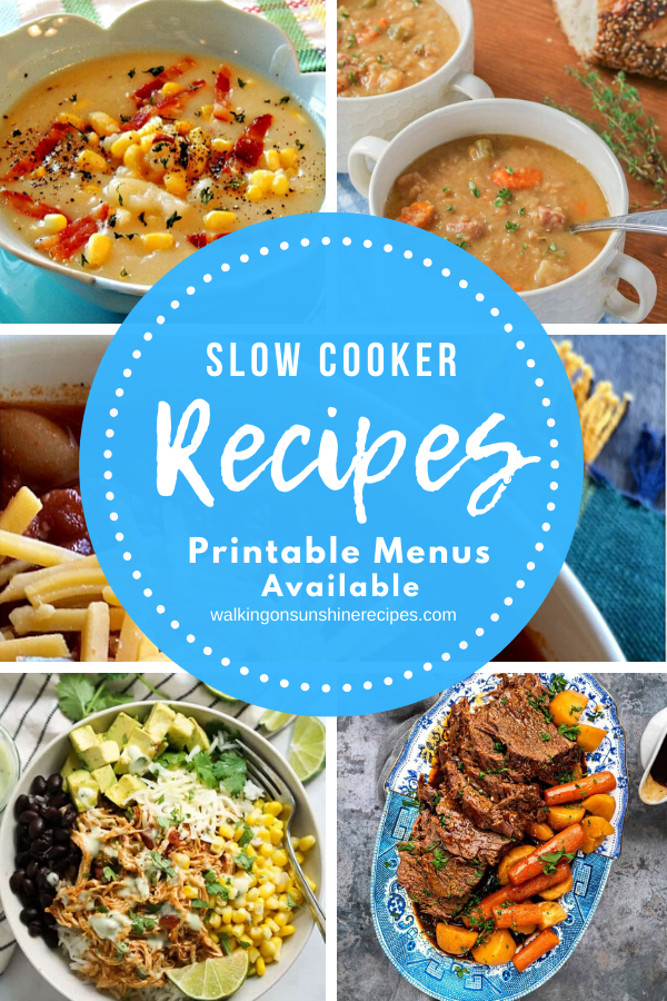 5 different easy slow cooker recipes