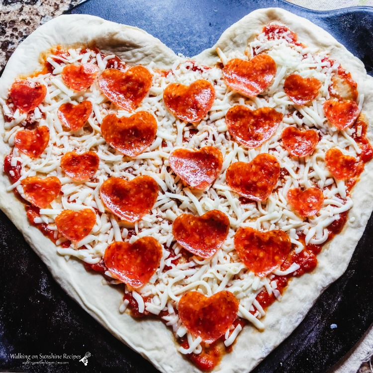 heart shaped pizzas