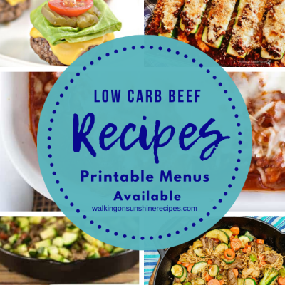 Weekly Meal Plan – Low Carb Ground Beef Recipes