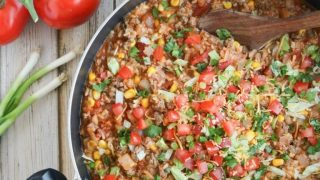One-Pot Mexican Rice Skillet Dinner - Two Healthy Kitchens