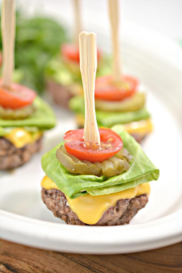 Keto Mini Burger Bites