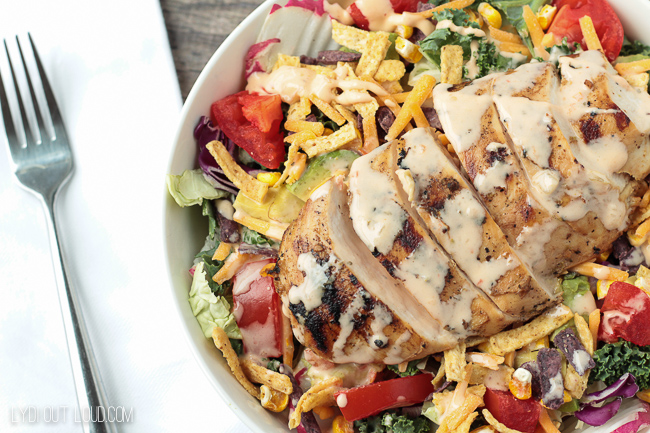Tequila-Lime Grilled Chicken Salad