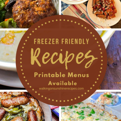 Weekly Meal Plan – Family Favorite Freezer Recipes