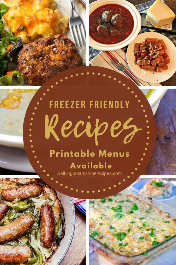 5 freezer friendly family recipes.