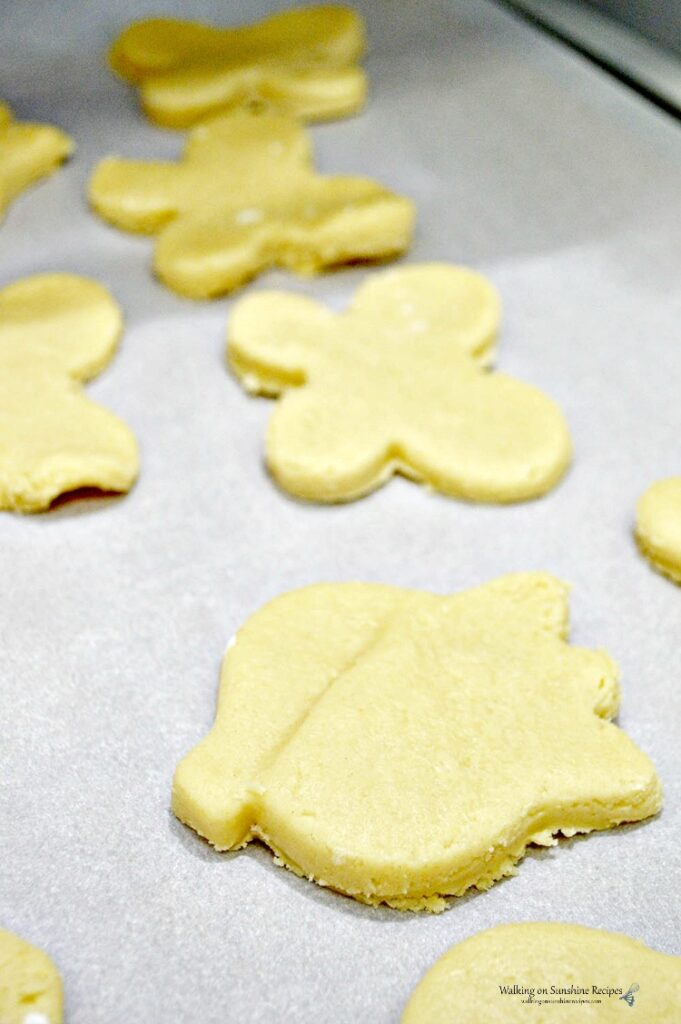 Sugar Cookie Cut Outs ready to be baked.