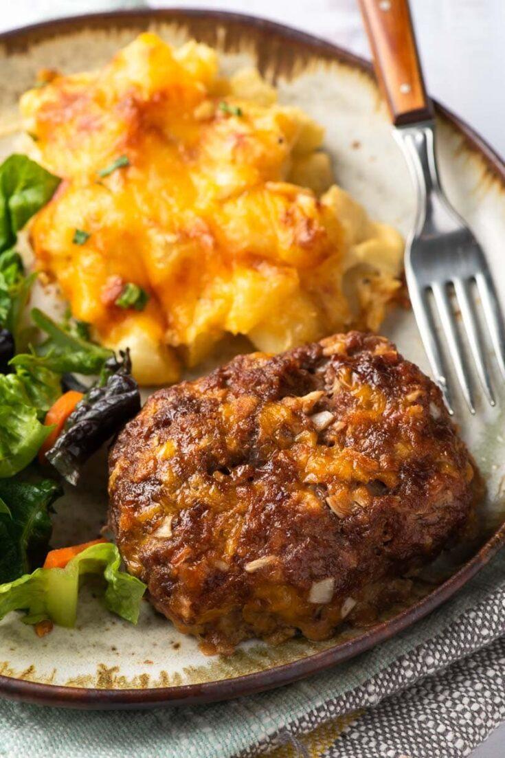 Cheesy Mini Meatloaf