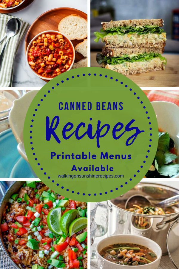 Easy recipes made using canned beans from the pantry for dinner.