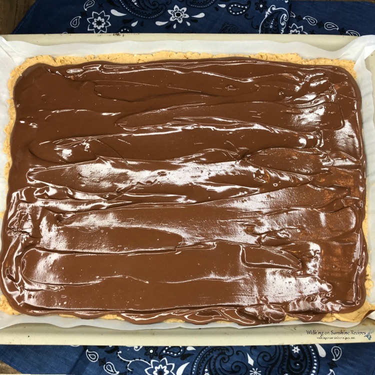Chocolate Layer on top of Peanut Butter Layer