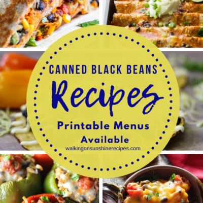 Weekly Meal Plan – Canned Black Beans Recipes
