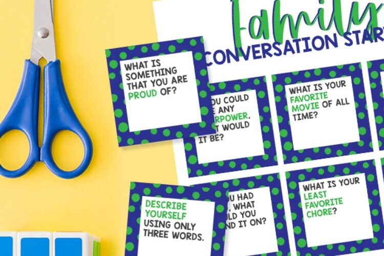 Family Conversation Starters – Printable Cards