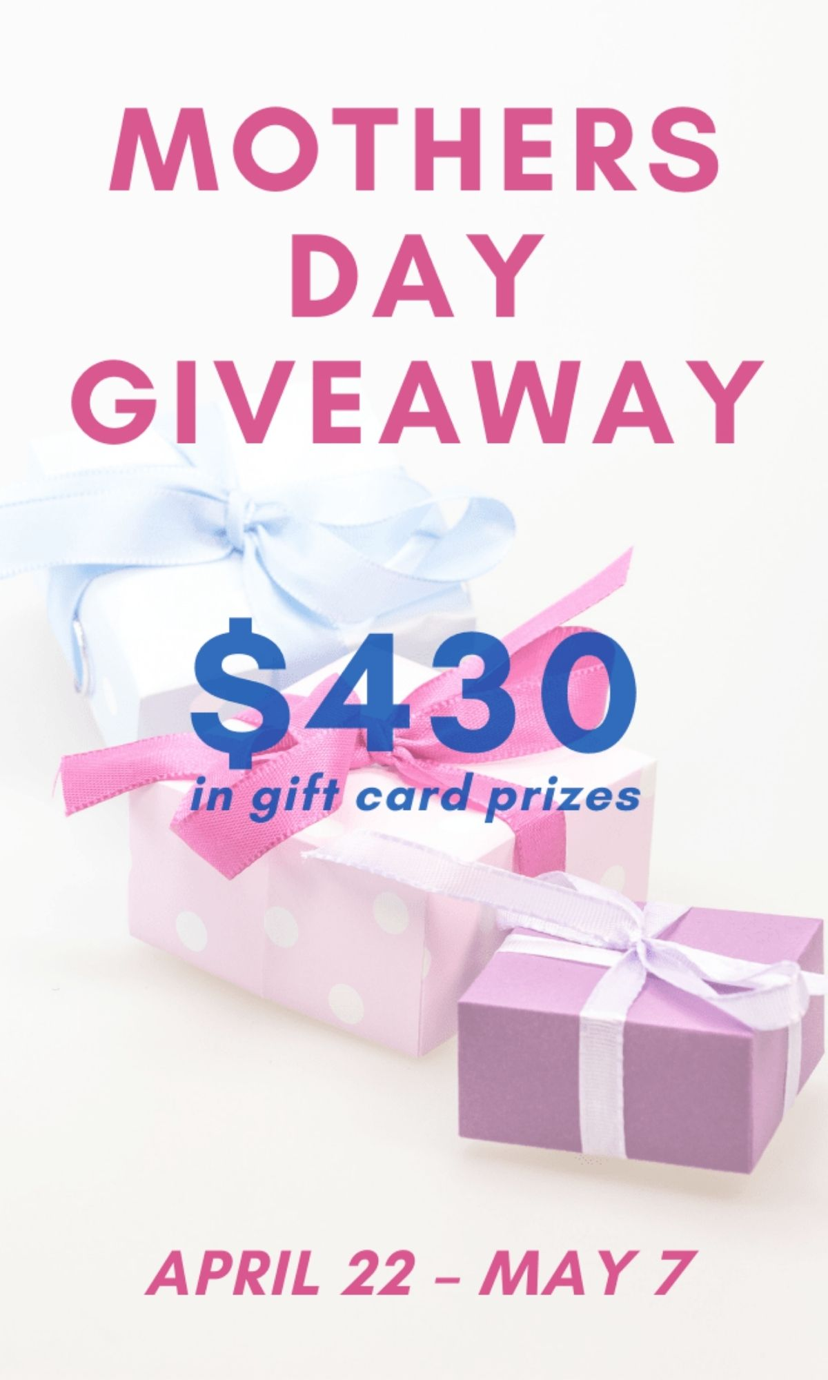 mother's day giveaway.