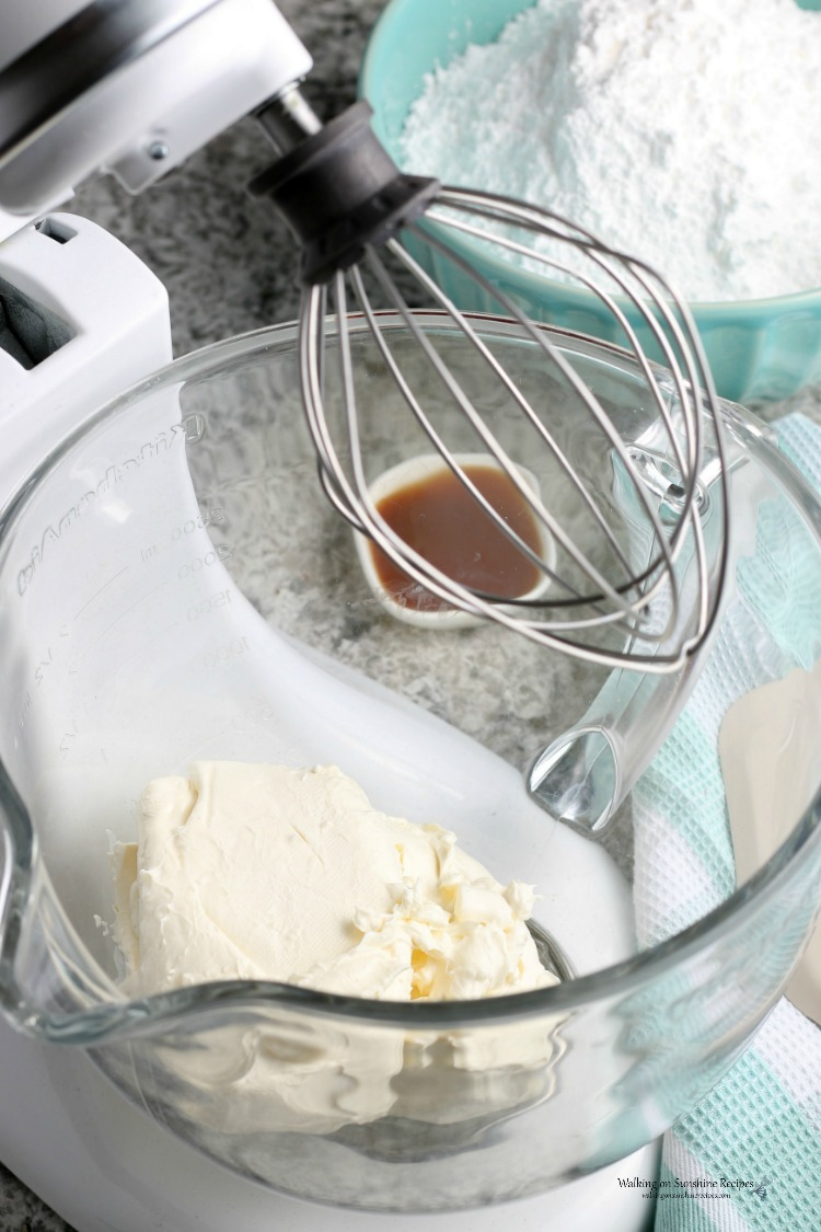 Cream Cheese in Kitchen Aid Mixer