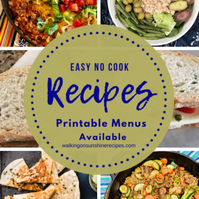 Weekly Meal Plan – Easy No Cook Meals