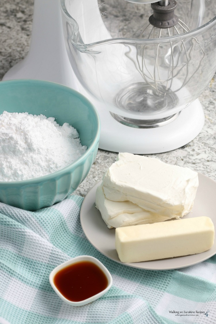 Ingredients for Homemade Cream Cheese Frosting