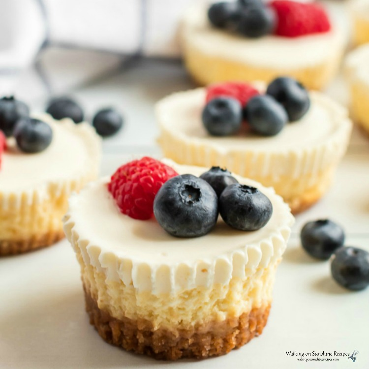 Mini Cheesecakes with Fresh Berries FEATURED photo