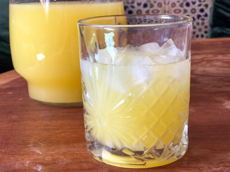Blender Orange and Mint Lemonade