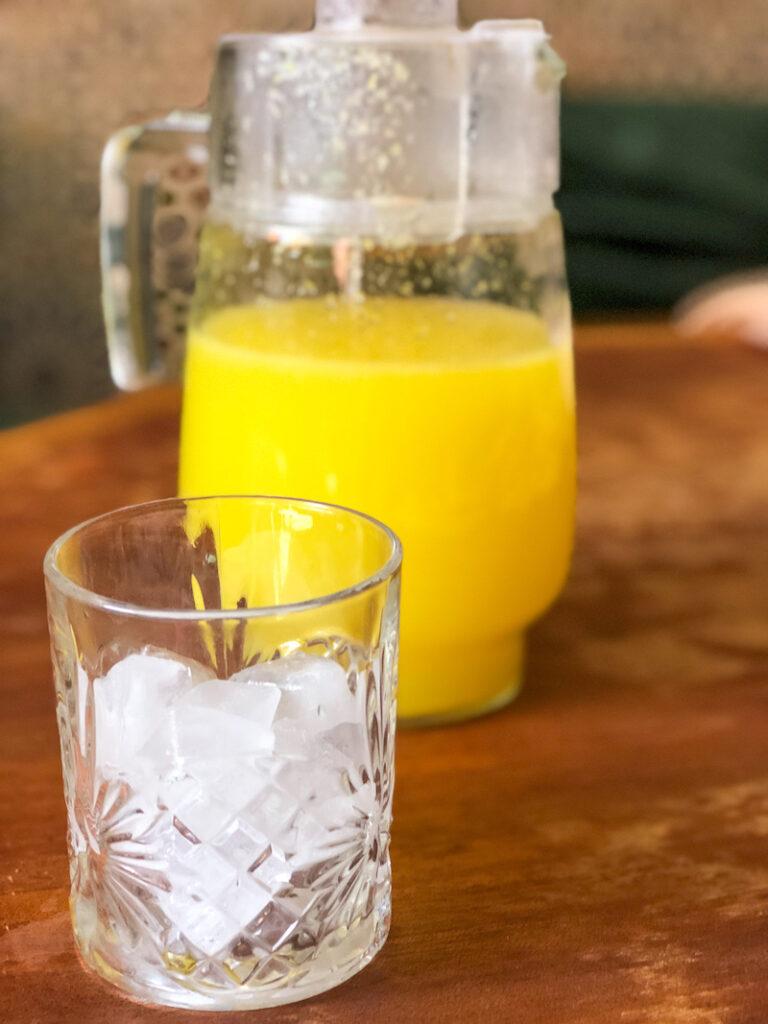 Blender Mint Orange Lemonade with Ice