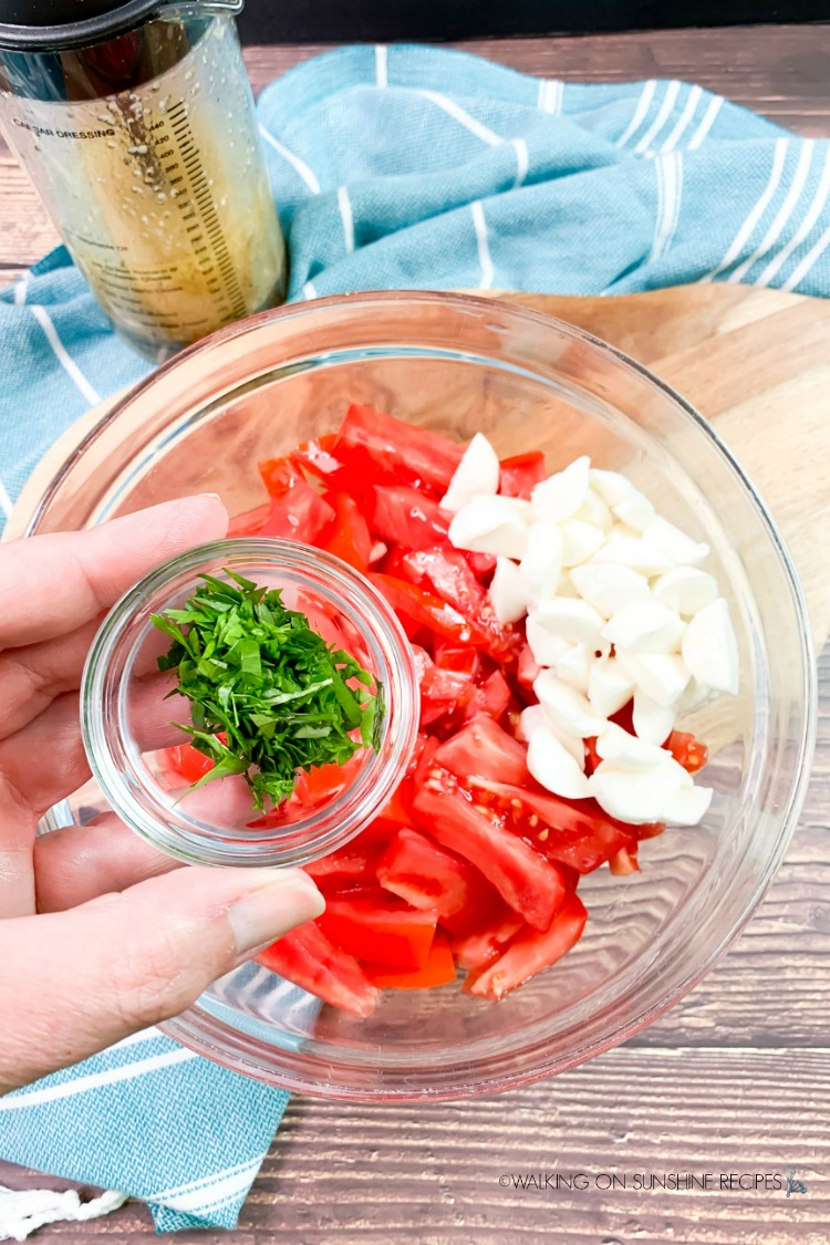 Add Fresh Parsley to tomato salad