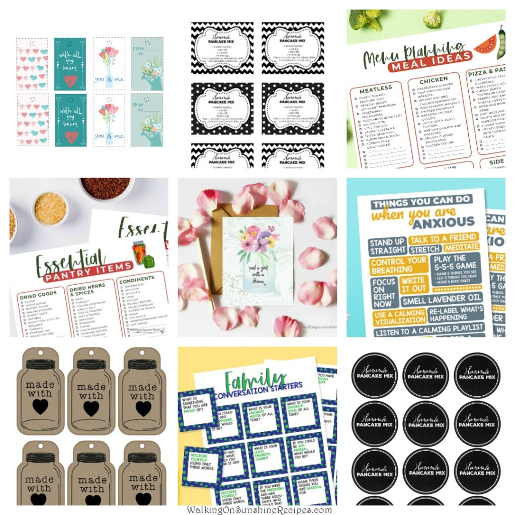 Printables available to newsletter subscribers.