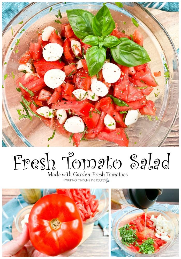 Fresh Tomato Salad collage