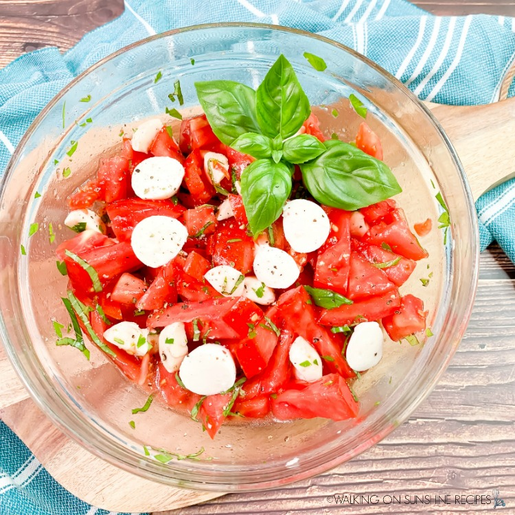 Fresh Tomato Salad in Glass Bowl FEATURED photo