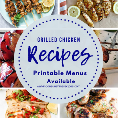 Weekly Meal Plan – Grilled Chicken Recipes
