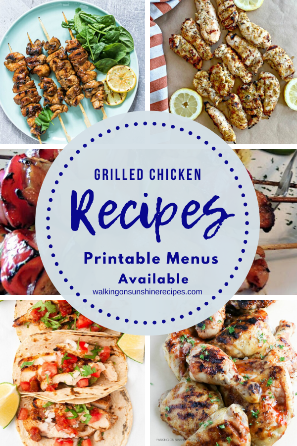 Easy Grilled Chicken Recipes for our weekly meal plan.