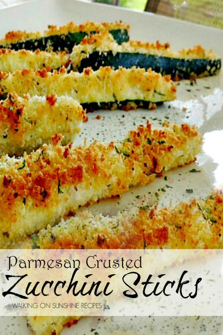 Parmesan Crusted Zucchini appetizer