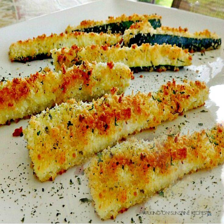 Parmesan Crusted Zucchini Sticks