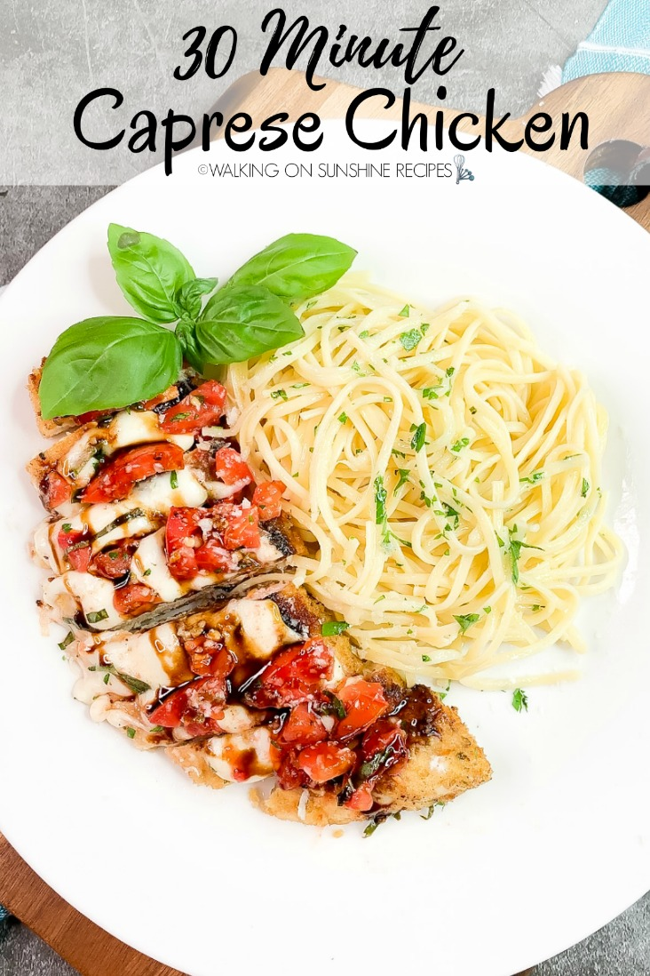 An alternative to stuffed caprese chicken is this easy 30 minute recipe.