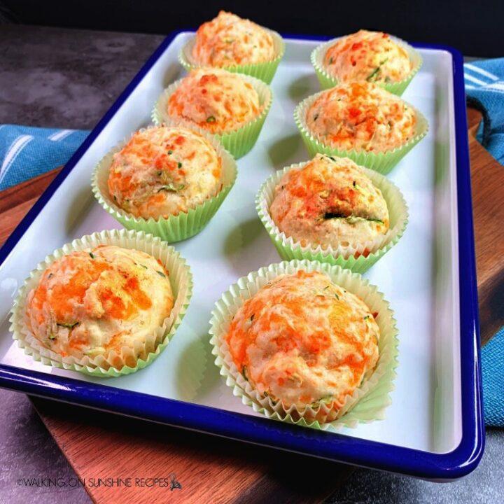 Bisquick Zucchini Cheddar Muffins