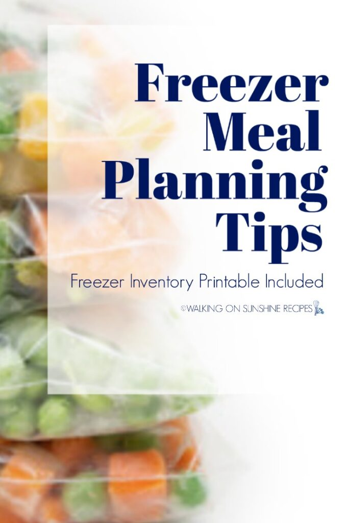 Meal planning tips and printable
