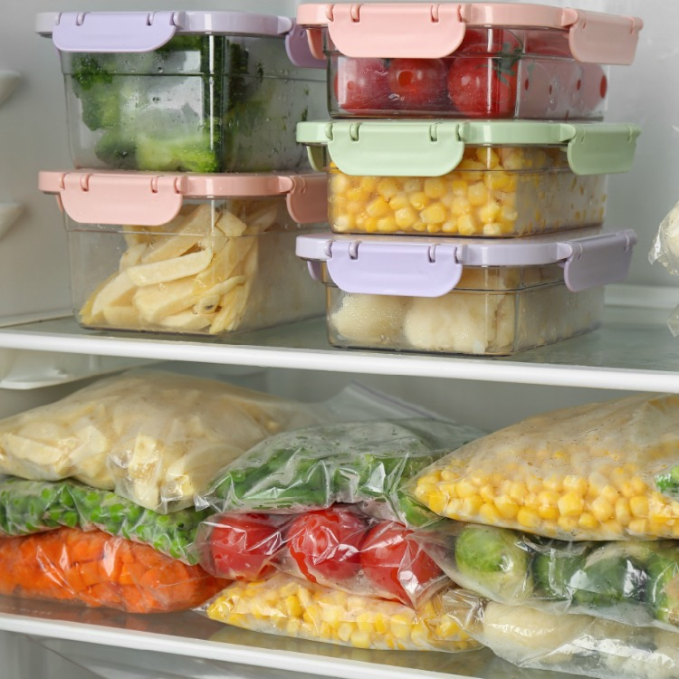 Freezer Meals in containers and plastic bags