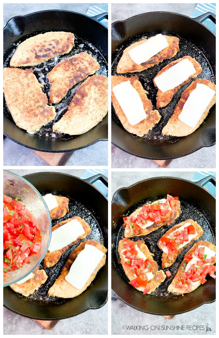 Process Photo for Caprese Chicken from WOS