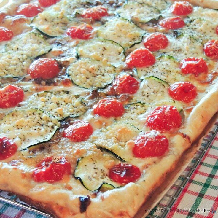 Rustic Tomato Zucchini Tart